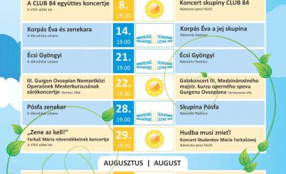 Július 7-én startol a Dunaszerdahelyi Nyár!