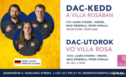 A következő DAC-kedd a Villa Rosában: jönnek a német ízek!