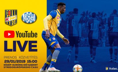 Nézze élőben a DAC-Esbjerg edzőmérkőzést!