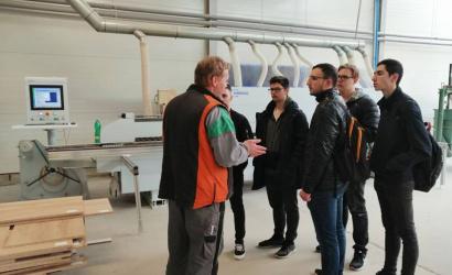 Gépészek szakmai látogatáson