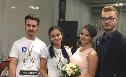 Andrejkovič Bálint első helyezett az Aranyolló fodrászversenyen