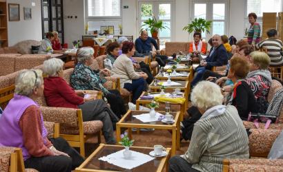 A nyugdíjasklubban járt szerkesztőségünk