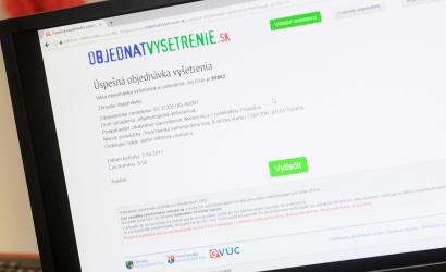 """Lehetőség az """"ElőjegyzésKivizsgálás.SK"""" (""""ObjednaťVyšetrenie.SK"""") szolgáltatás igénybevételére"""