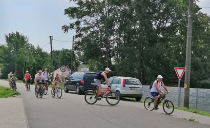 Kerékpártúrán emlékeztek, de versenyeztek is