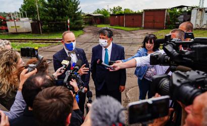A legszennyezettebb megyei helyszíneket tekintette meg a környezetvédelmi miniszter