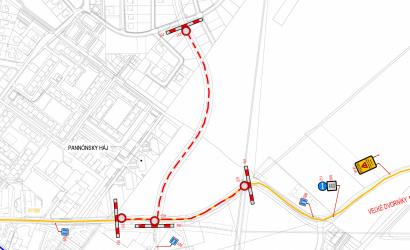 November 16–23. között lezárják a Csallóközkürt felé vezető útat a Tesco mögött