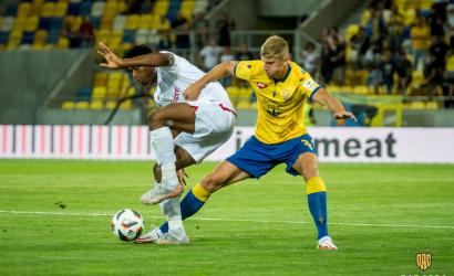 Danylo Beskorovainyi szülei előtt szerezte első gólját a MOL Arénában