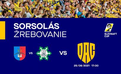 Slovnaft Cup: augusztus 25-én kezd a DAC