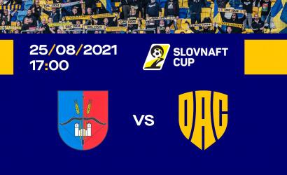 Az Újlóttal találkozik a DAC a Slovnaft Cup 2. fordulójában