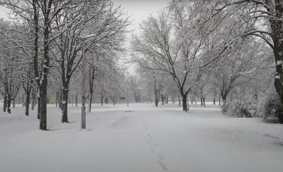 Februári havazás - VIDEÓ