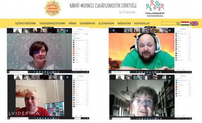 Online találkoztak a családokkal és fiatalokkal foglalkozó felvidéki szervezetek vezetői