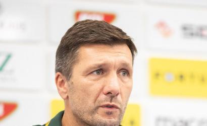 Sajtótájékoztató a DAC-Partizan (0:2) mérkőzés után