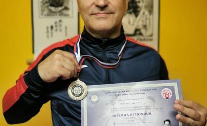 A dunaszerdahelyi Csiba Tibor karate Európa-bajnok és világbajnok lett az elmúlt hetekben