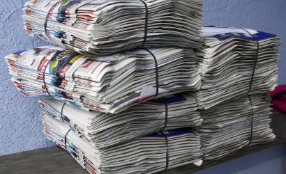 Hétfőn szállítják el a papírhulladékot