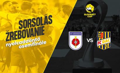 Slovnaft Cup: Rózsaheggyel találkozunk a nyolcaddöntőben