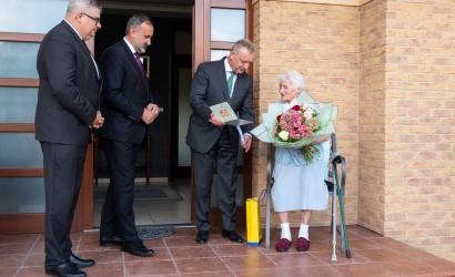 """Ma százéves Fodor Erzsébet, """"Fodor mama"""""""