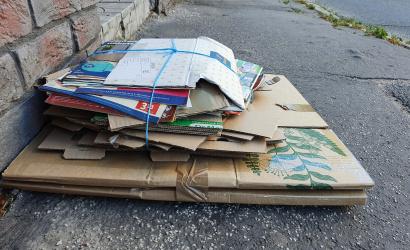 Hétfőn gyűjtik a papírt