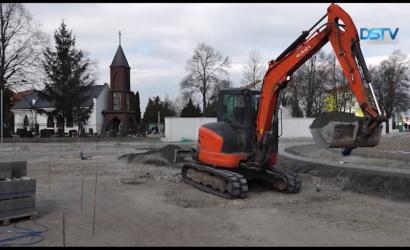 Embedded thumbnail for A tervek szerint halad a sikabonyi körforgalom építése