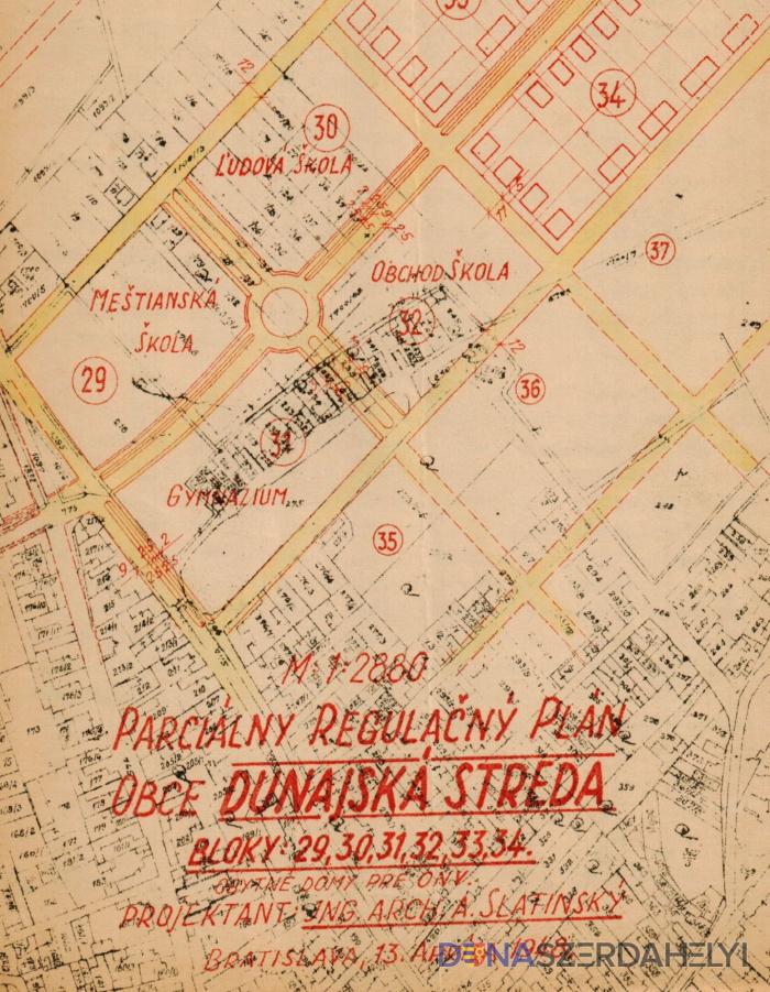 Az első városszabályozási terv