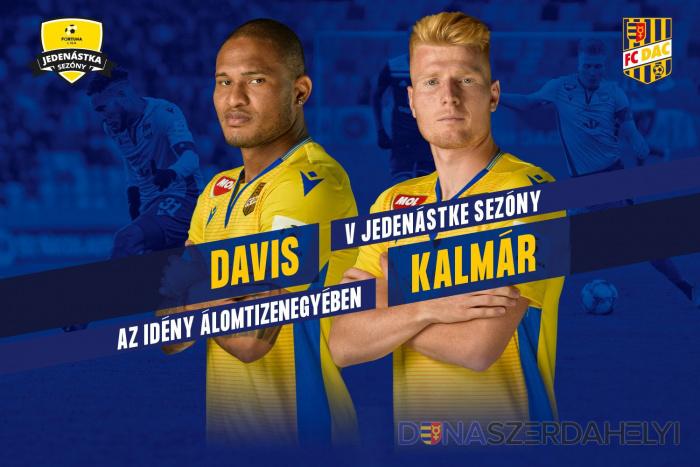 Davis és Kalmár a Fortuna Liga legjobb tizenegyében!