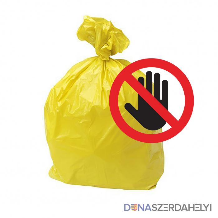 Figyelem! A műanyag hulladékot csak szeptember 17-én szállítják el a családi házaktól!