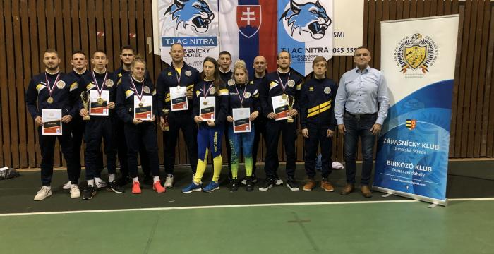 Négy szlovák bajnoki címet szereztek a dunaszerdahelyi birkózók a felnőttek között!