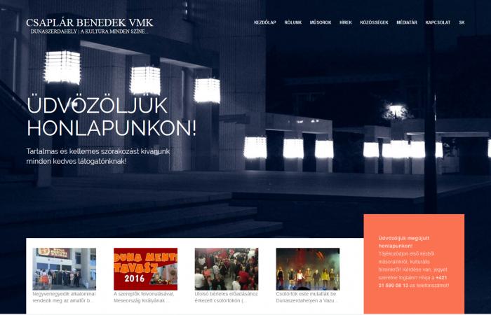 Megújult a Csaplár Benedek Városi Művelődési Központ honlapja