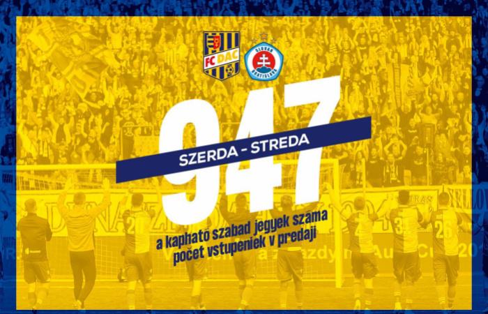 DAC-Slovan: Van még, de szépen fogy a belépő!