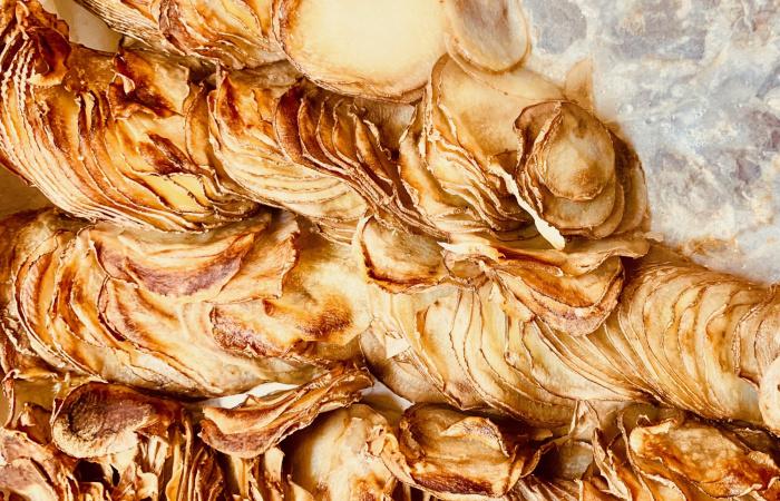 Ropogósra sült krumpliszirmok