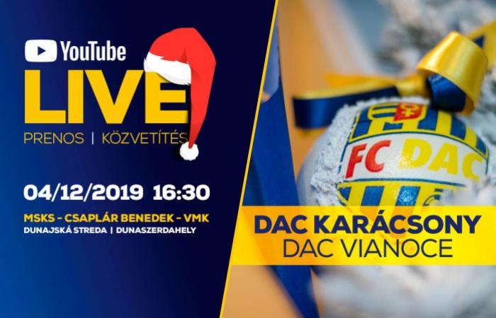 Kövesse élőben a VI. DAC-karácsony ünnepséget!