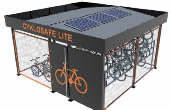 Már használhatók a csippel zárható kerékpártározók