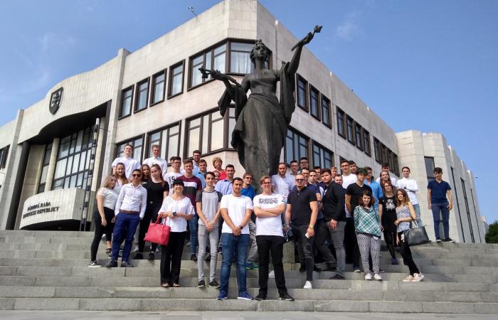 Látogatás a pozsonyi parlamentben