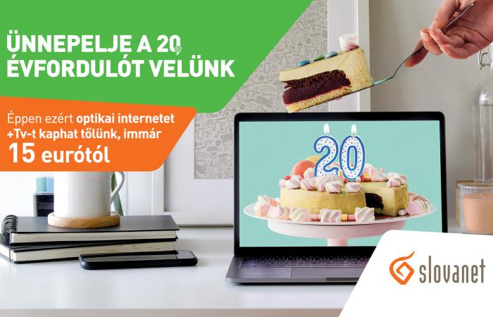 Extra TV és internet kínálat a Slovanet 20. évfordulója alkalmából