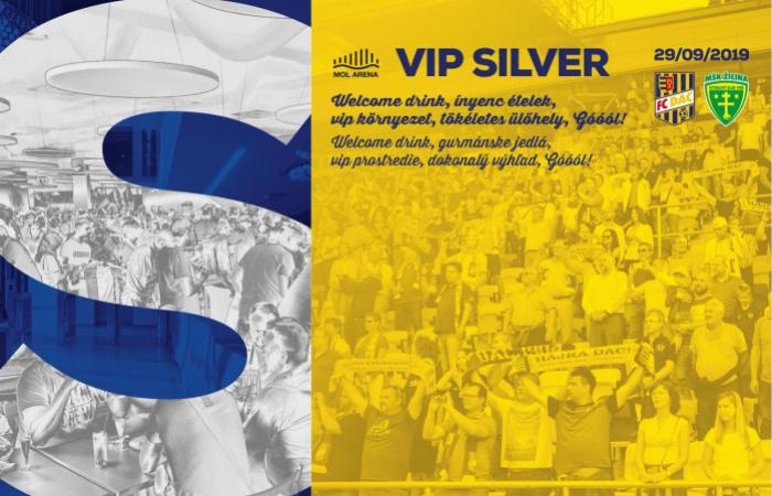 VIP Silver menü a DAC-Zsolna bajnokira