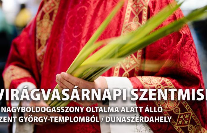 Virágvasárnapi szentmise: rendhagyó módon