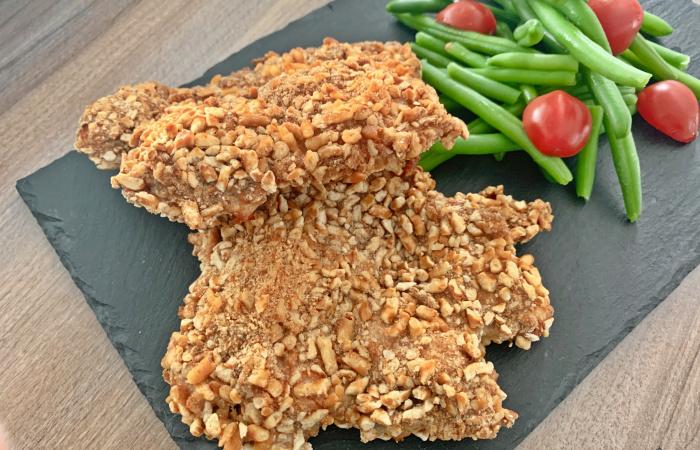 Tepsiben sült csirkecomb filé ropogós perecmorzsa bundában