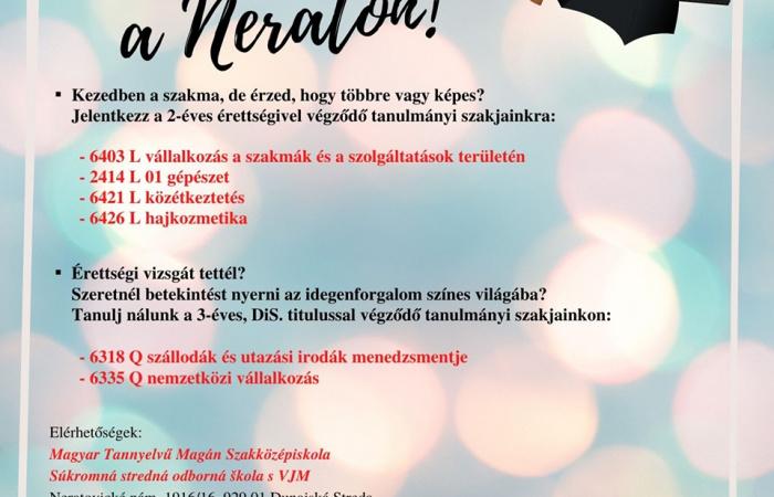 Piacképes szakmák és tanulmányi szakok a Neratovicei téri  Magyar Tannyelvű Magán Szakközépiskolában