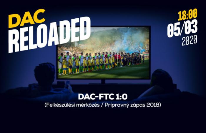 Újratöltve! Itt tudják visszanézni a DAC-Ferencváros edzőmérkőzést