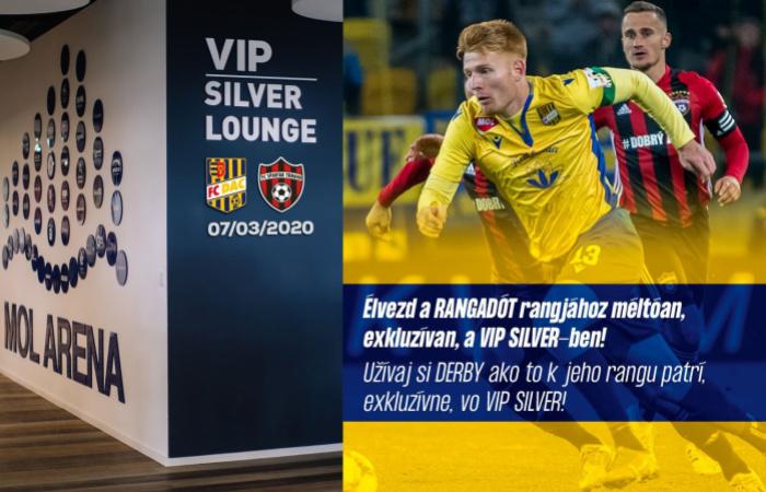VIP Silver menü a DAC-Nagyszombat rangadóra
