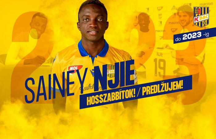 Sainey Njie bizonyított és szerződést hosszabbított