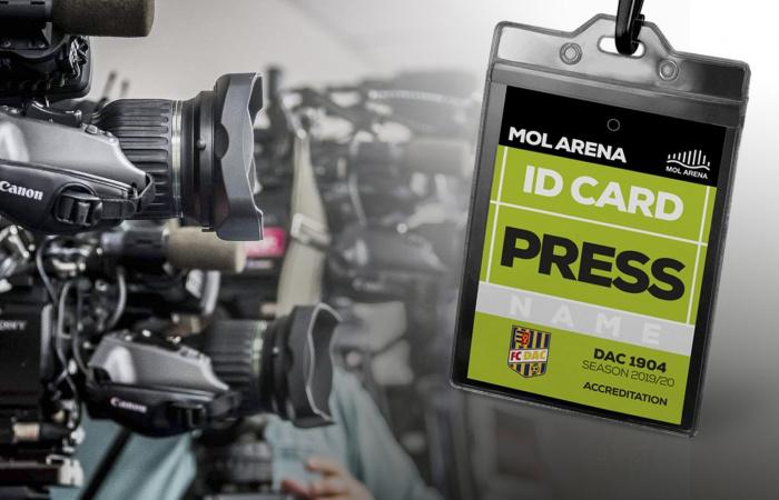 Újságírói akkreditációk a DAC-Jablonec kupamérkőzésre