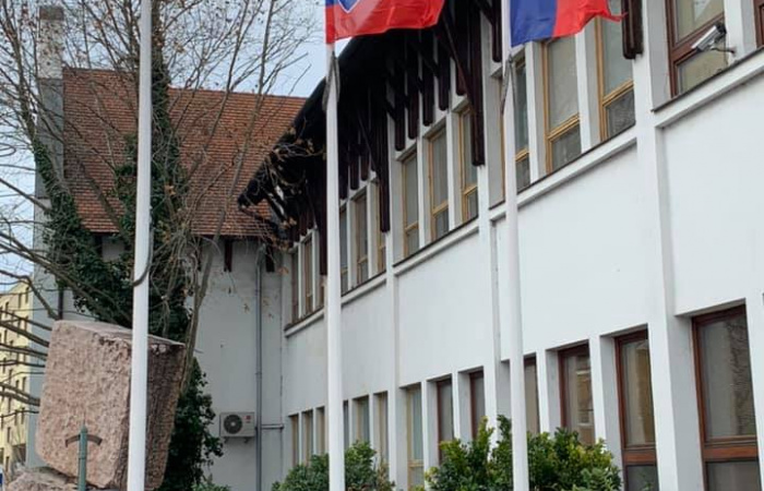 Tiltakozásul levonták az Európai Unió zászlaját Dunaszerdahelyen
