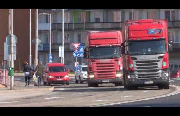 Embedded thumbnail for Dunaszerdahely központjából kitiltották a kamionokat