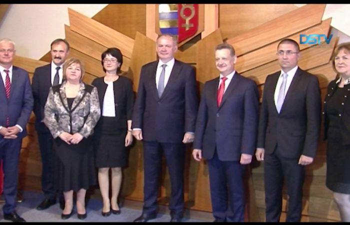 Embedded thumbnail for Andrej Kiska szlovák államfő Dunaszerdahelyre látogatott