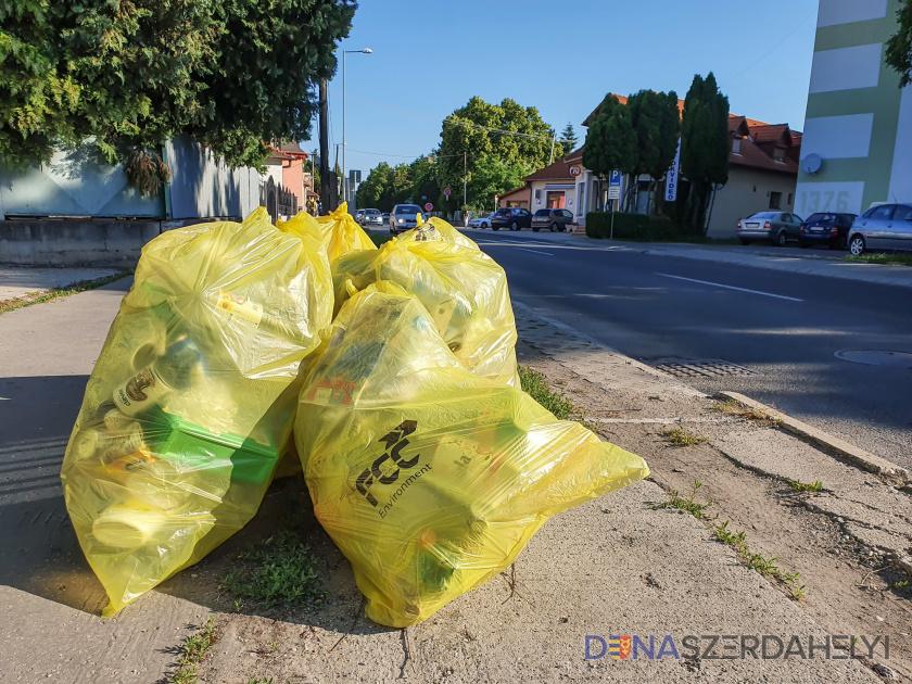 Holnap szállítják el a műanyag hulladékot