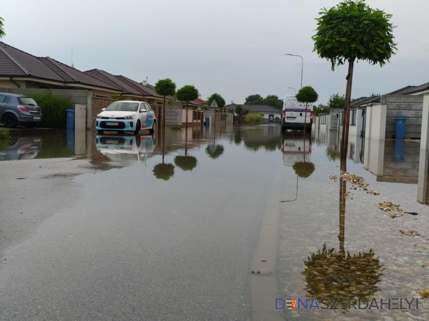 A nagy eső több helyen okozott károkat Dunaszerdahelyen is
