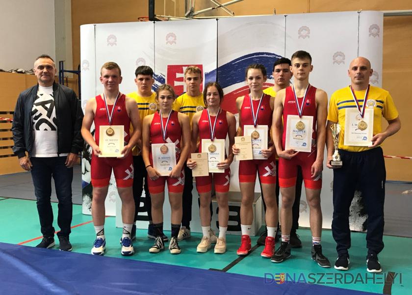 Nyolc dunaszerdahelyi érem a kadet szabad és kötöttfogású birkózó szlovák bajnokságon