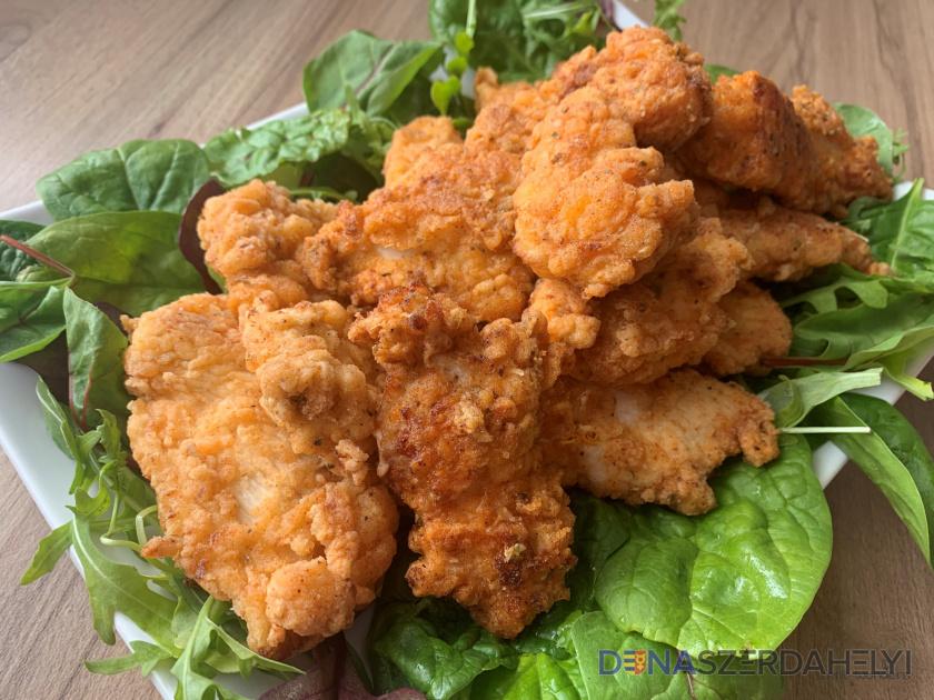 Pácolt csirkefalatok fűszeres-ropogós bundában