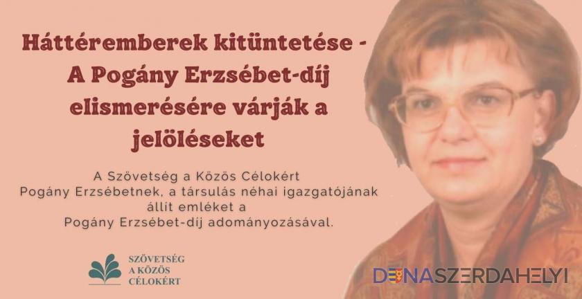 Háttéremberek kitüntetése – A Pogány Erzsébet-díj elismerésére várják a jelöléseket