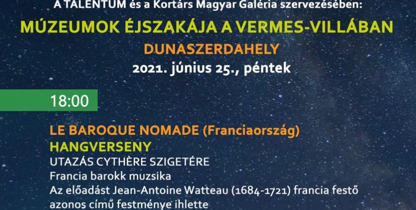 Múzeumok éjszakája a Vermes-villában